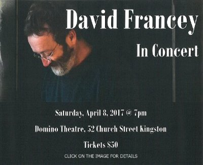 David Francey in Concert Click here for details